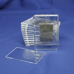 Магнит акриловый под полиграфическую вставку, прямоугольный, бесцветный, 52х77 мм