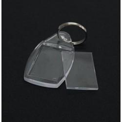Брелок акриловый под полиграфическую вставку, прямоугольник со скругленными краями, бесцветный, 35х58 мм