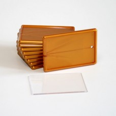 Акриловый магнит прямоугольный, бронза, 52х77 мм