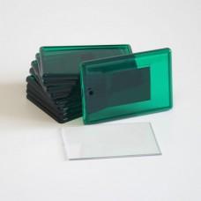 Акриловый магнит, прямоугольный, зеленый, 52х77 мм