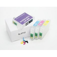 Многоразовые перезаправляемые картриджи для принтеров и МФУ Epson Expression Home XP-33, XP-103, XP-203, XP-207, XP-303, XP-306, XP-403, XP-406. Комплект 4 шт.