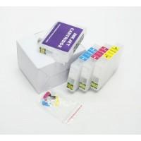 Перезаправляемые картриджи для Epson Expression Home XP-313, XP-413, комплект