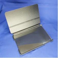 Черный защитный чехол-книжка для IPad mini с отделкой под карбон