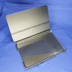 Защитный чехол-книжка для IPad mini. Цвет ченый, отделка под карбон