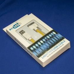 Кабель USB для IPhone 4 / 4S, светящийся