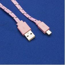 Текстильный USB - micro USB кабель для зарядки телефона