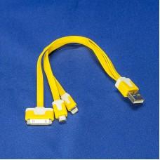 Универсальный многоцелевой кабель 3 в 1 для IPhone 4 / 4S, IPhone 5 / 5S, microUSB