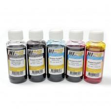 Комплект совместимых универсальных чернил Hi-Black для любых 5-ти цветных принтеров HP