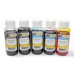 Чернила Hi-Black для любых 5-ти цветных принтеров HP, комплект 5 х 100 гр.