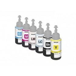 Оригинальные чернила для принтера Epson L800 / L1800 / L810 / L850; комплект, 6 х 70 гр.