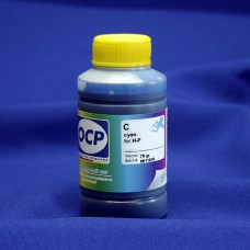 Совместимые синие (cyan) чернила OCP для струйных принтеров и МФУ с картриджами HP 655. Фасовка 70 гр.