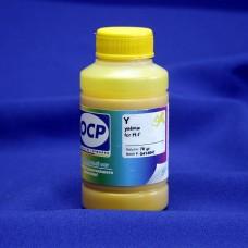 Совместимые желтые (yellow) чернила OCP для струйных принтеров и МФУ с картриджами HP 655. Фасовка 70 гр.