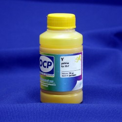 Чернила OCP Y143 для HP с картриджами HP 178, 920, 901, 121, 670; желтые (yellow), 70 гр.