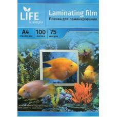 Пленка для ламинирования формата A4, 75 мкм, 100 шт. (LIFE)
