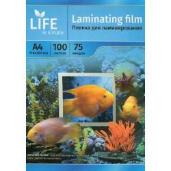 Пленка для ламинирования A4, 75 мкм, 100 шт. (LIFE)
