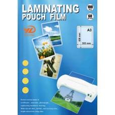 Пленка для ламинирования листов формата A3, 60 мкм, 100 шт. (YULONG)