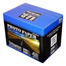 Глянцевая фотобумага для струйных принтеров HOST, 4R (105x152), 200 гр./м2 (500 листов)
