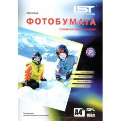 Фотобумага для струйных принтеров IST, глянцевая A4, 230 (100 листов)