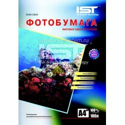 Фотобумага для струйных принтеров IST, матовая A4, 108 (100 листов)