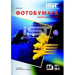 Фотобумага для струйных принтеров IST, матовая A4, 128 (50 листов)