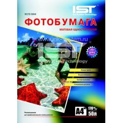 Фотобумага для струйных принтеров IST, матовая A4, 170 (50 листов)
