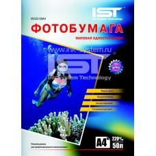 Матовая односторонняя фотобумага IST, A4 / 220 / 100 листов