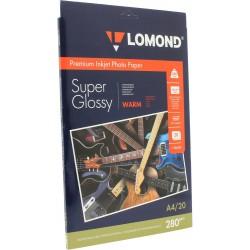 Фотобумага для струйных принтеров Lomond (1104101), односторонняя, суп.глянц. микропористая (warm) , A4, 280 (20 листов)