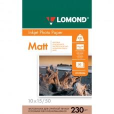 Матовая односторонняя фотобумага Lomond, 10x15 / 230 / 50