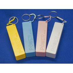 Внешний аккумулятор / Power Bank, емкость 2600 мАч / белый / жёлтый / голубой / розовый