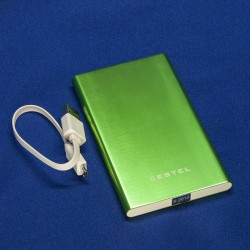 Внешний аккумулятор / Power Bank, Cestel, емкость 6000 мАч. Металлический корпус