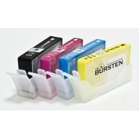 Перезаправляемые картриджи Bursten Nano 1 для принтеров HP использующих картриджи 178 / 920 / 655, 4 шт.
