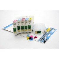 Перезаправляемые картриджи Bursten Nano 1 для принтеров Epson Stylus Photo P50, комплект 6 шт.