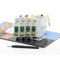 Перезаправляемые картриджи Bursten Nano 2 для принтеров Epson T26 / T27 / TX106 / CX4300, 4 шт.