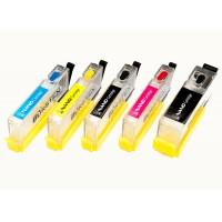 Перезаправляемые картриджи Bursten Nano 2 для принтеров Canon Pixma IP7240, MG5440, MG5540, MG5640, MG6440, MG6640, MX924, iX6840 с картриджами PGI-450/CLI-451; Комплект 5 шт.