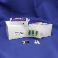 Перезаправляемые картриджи для Epson Stylus C79 / TX200 / TX400 / CX6900, 4 шт.