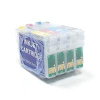 Перезаправляемые картриджи для Epson Stylus S22 / SX130, 4 шт.