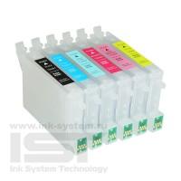 Перезаправляемые картриджи IST для Epson  Stylus Photo R200 / R300 с картриджами T048*, 6 шт.