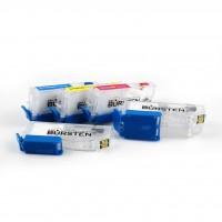 Перезаправляемые картриджи Bursten Nano 2 для принтеров Epson XP-600, XP-605, XP-700, XP-800, комплект 5 шт.