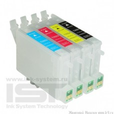 Перезаправляемые картриджи IST для Epson  Stylus Photo R240 / R250 / RX430 / RX520, 4 шт.